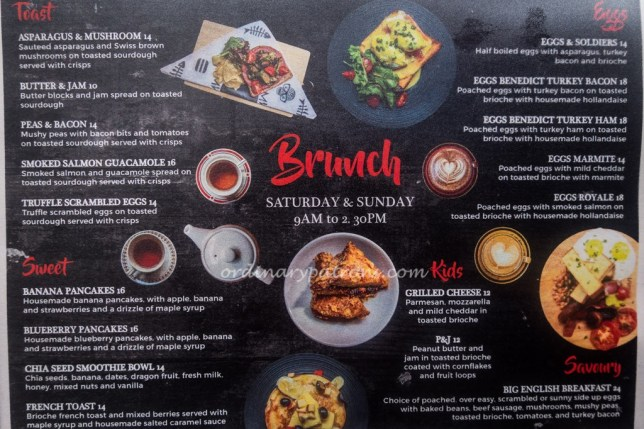 The Mad Sailors Brunch Menu