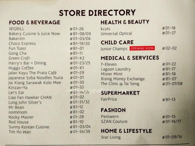 Store Directory 18 Tai Seng