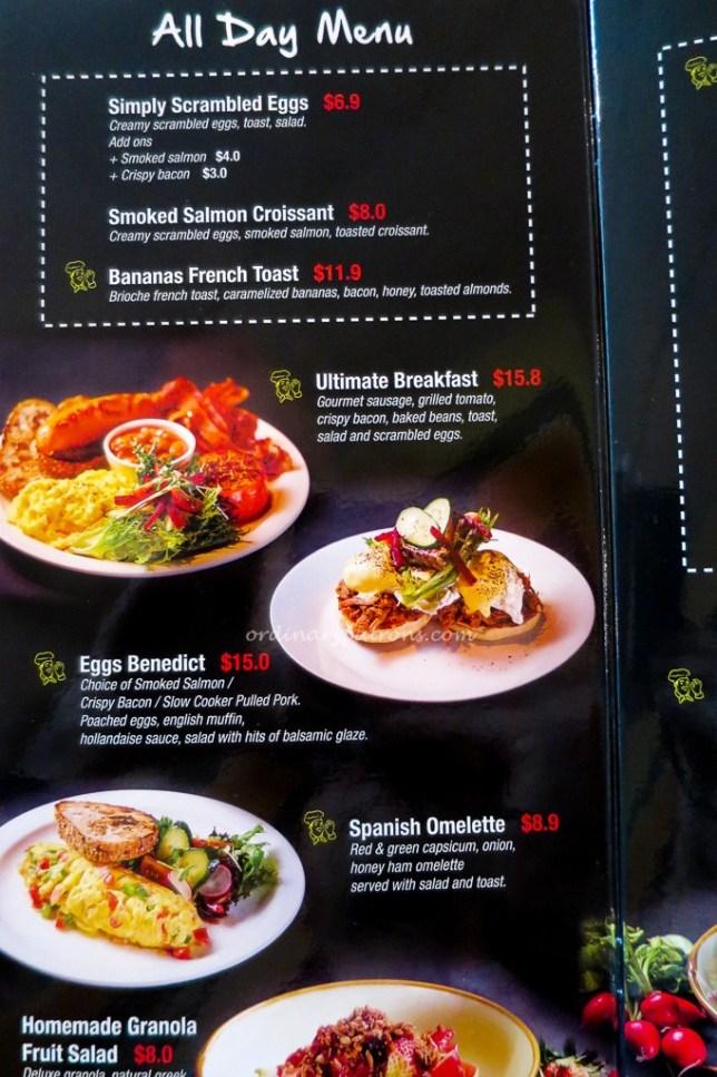 Espressolab menu