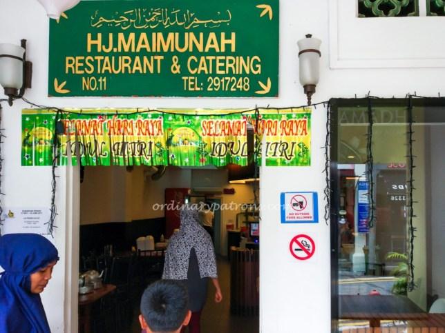 Hjh Maimunah Restaurant at Jalan Pisang