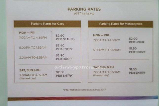 Tanjong Pagar Centre Car Park Rates