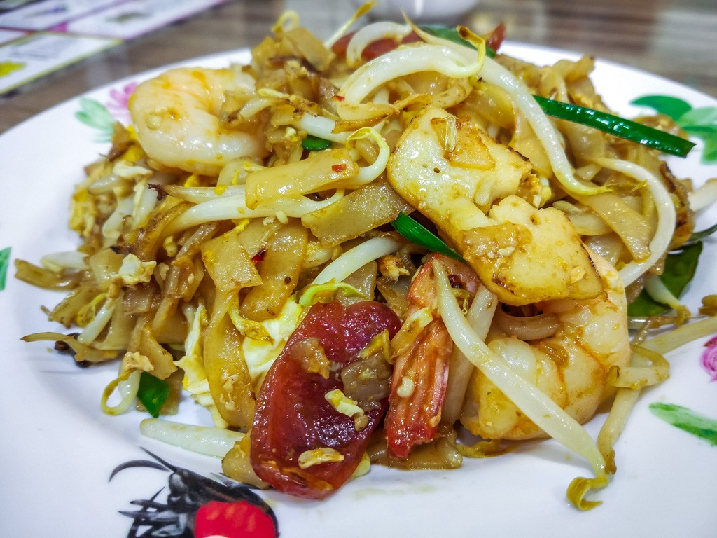 Traditional Penang Food Fried Kway Teow
