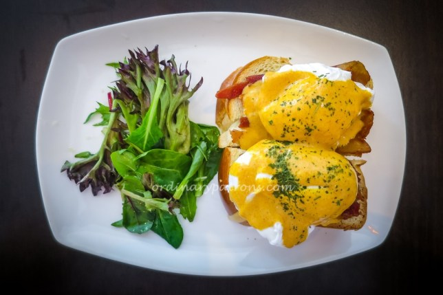 Eggs Benedict at Two Tall Trees