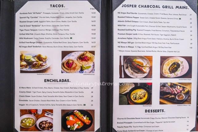 El Mero Mero Mexican Restaurant Menu