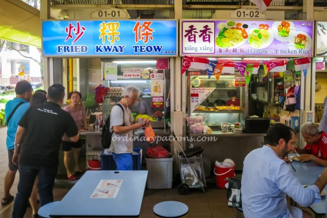 Stalls of Amoy Street Food Centre