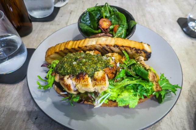 .elia restaurant Singapore pesto chicken sandwich