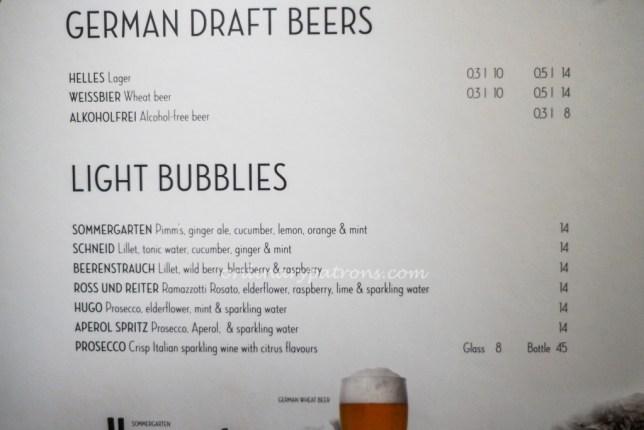 Beer in hans im glück Singapore