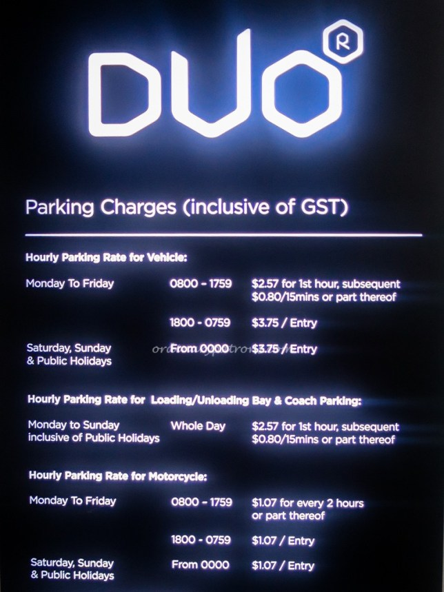 Duo Car Park Charges