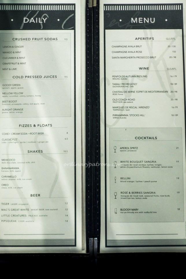 PS.Cafe Raffles City Menu