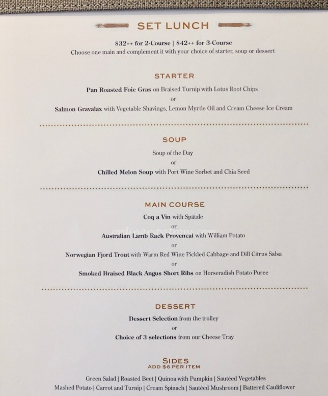 Tablescape Restaurant Menu