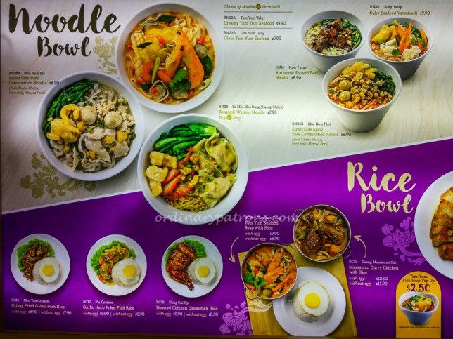 Bowl Thai Chinatown Point Menu