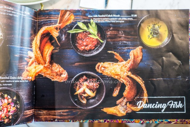 Dancing Fish Signature Menu Singapore