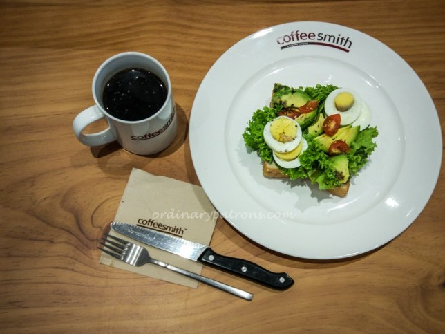 Open Sandwich of Coffeesmith Suntec