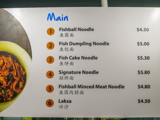 Li Xin Teochew Fishball Noodles Menu