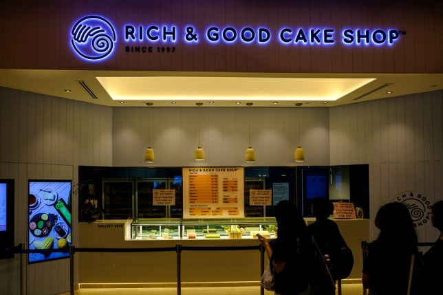 Rich & Good Cake Shop in Jewel Changi Airport.