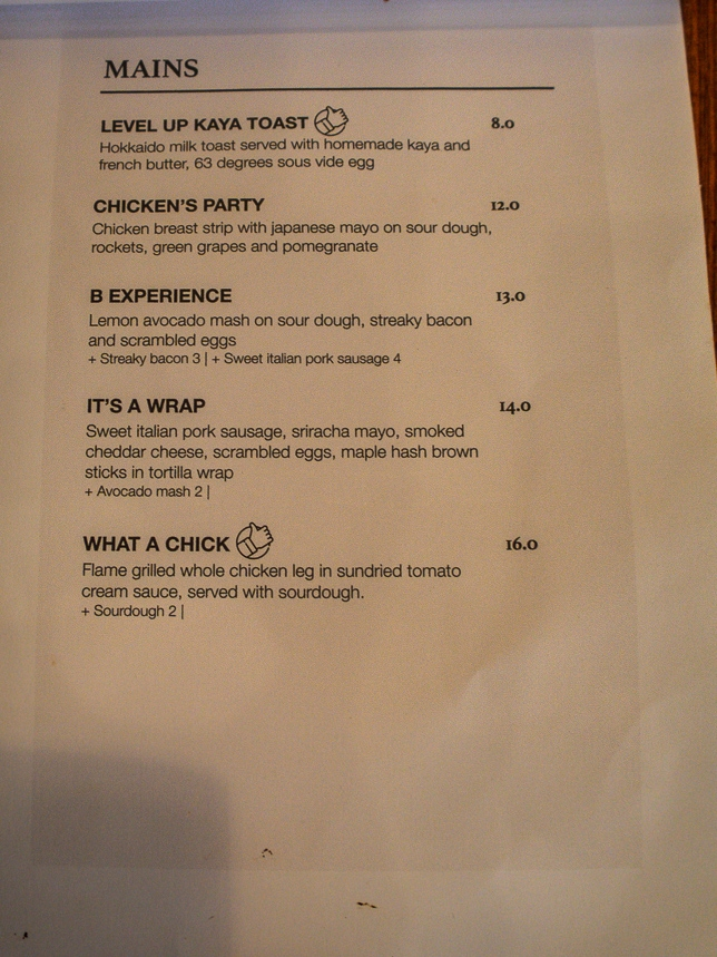 Homeground Coffee Roasters Menu Mains