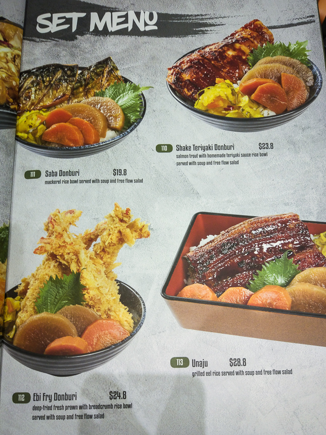 Menu of Makino by Akashi