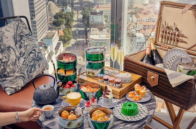 Singapore-inspired afternoon tea picnic at