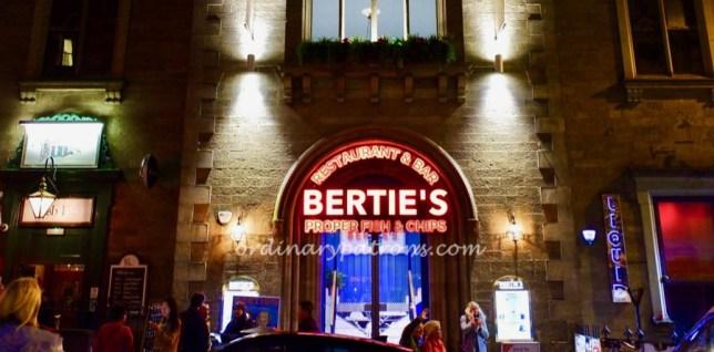 Bertie's Fish & Chips in Edinburgh