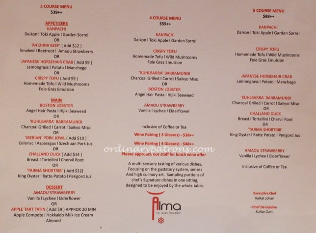 Affordable Michelin-Star Restaurant, Singapore - Lunch at Alma, Goodwood Park Hotel