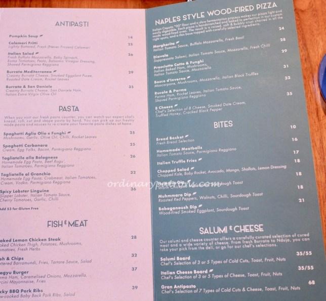 Da Paolo Dempsey Restaurant menu