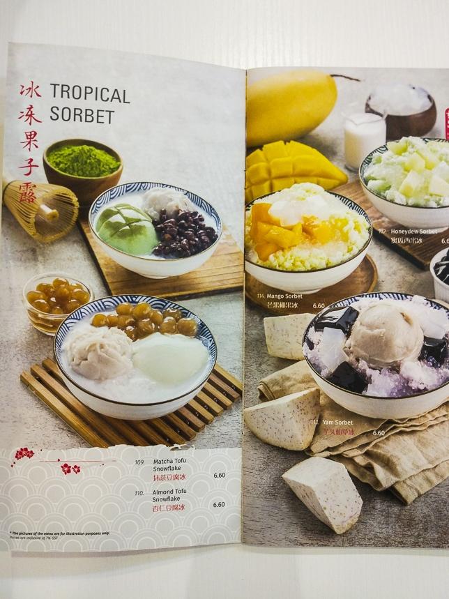 Ji De Chi Dessert Menu