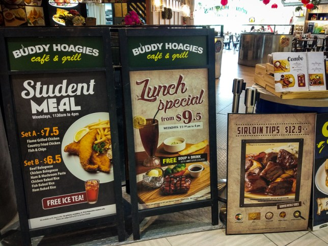 Buddy Hoagies Menu