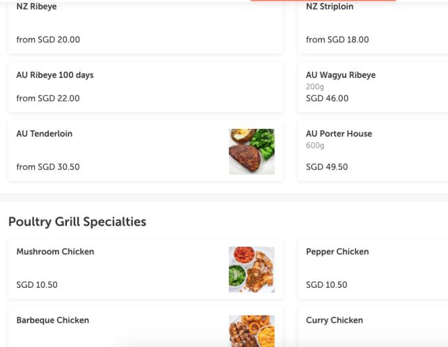 iSteak Delivery Foodpanda menu Star Vista