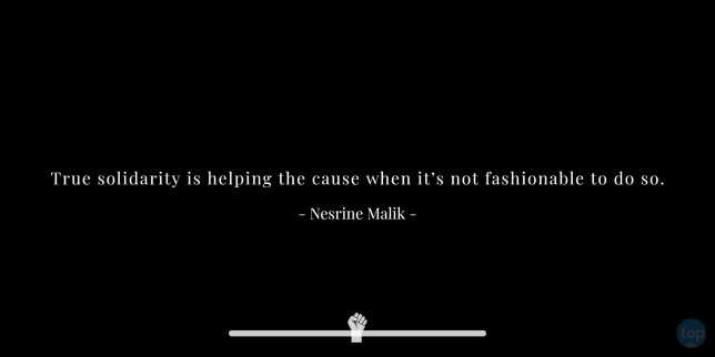 Solidaritas sejati membantu penyebabnya ketika tidak modis untuk melakukannya. - Kutipan Nesrine Malik