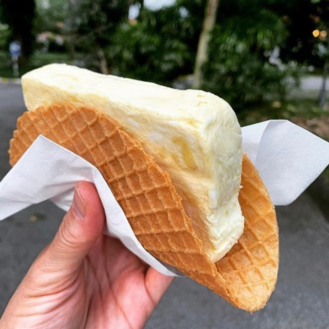 SPRMRKT Durian Semifreddo Wafer Sandwich