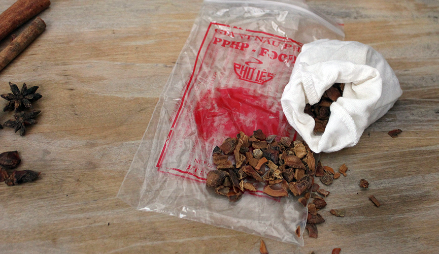 Pre made spice bag from Sydney