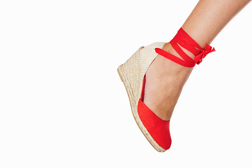 Cote + Badt Red Espadrille