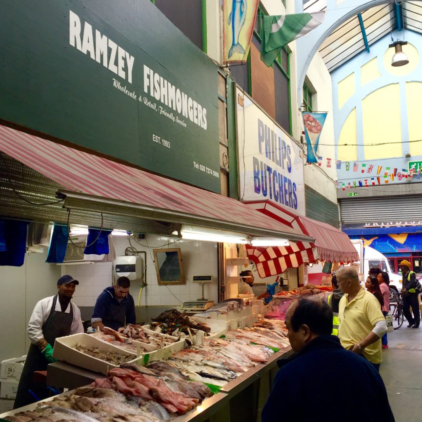 Ramzey Fishmongers a long standing tenant when Brixton Village was still known as Granville Market