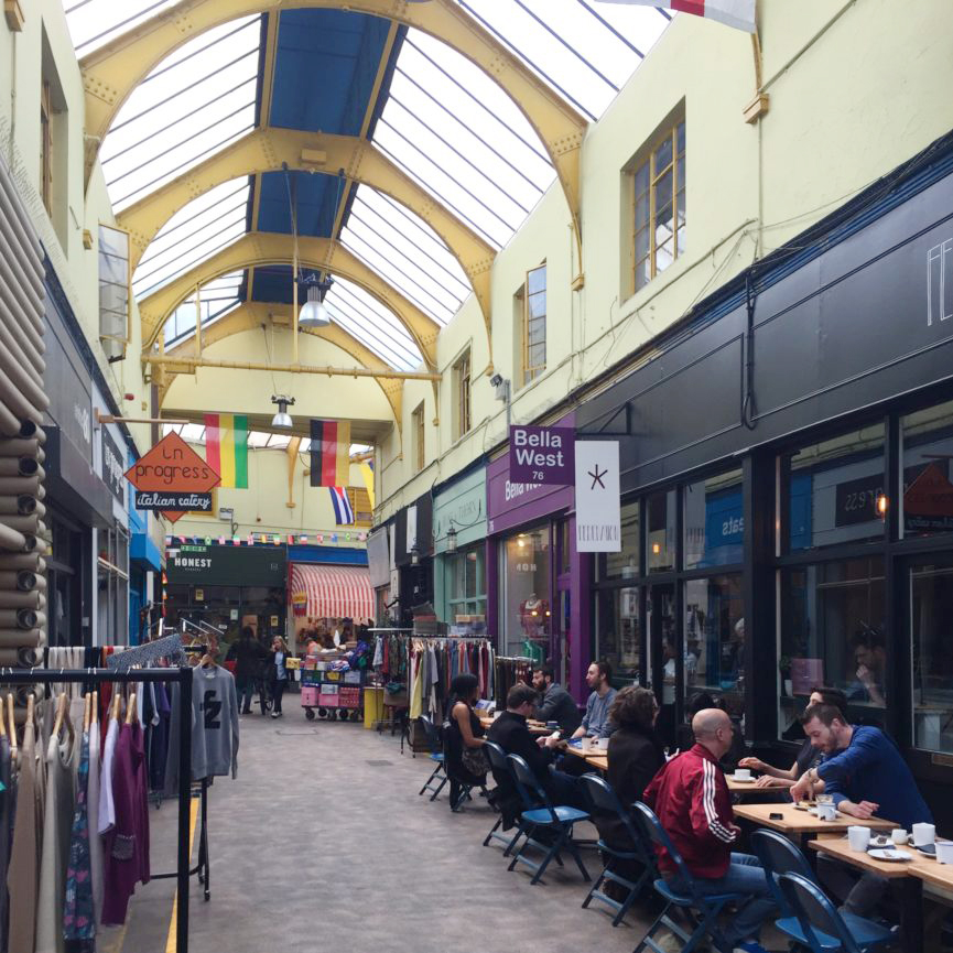 One of many lanes or streets to explore at Brixton Village