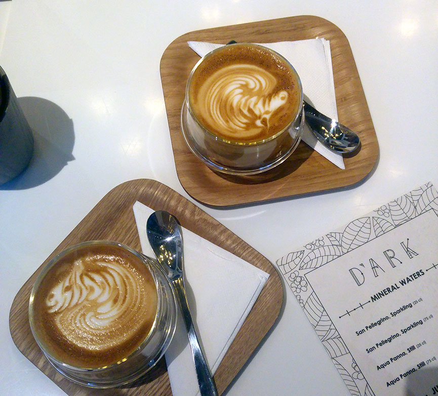 A great coffee to pick you up before going and eating some more!