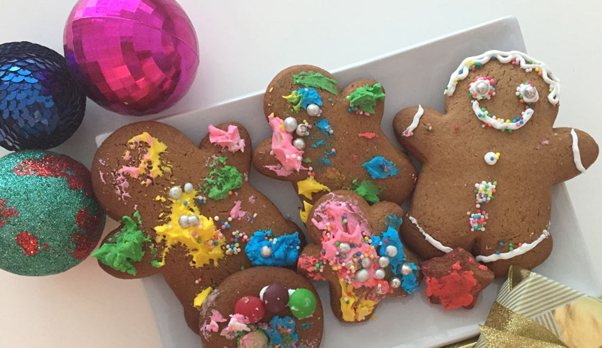 abstract gingerbread cookies