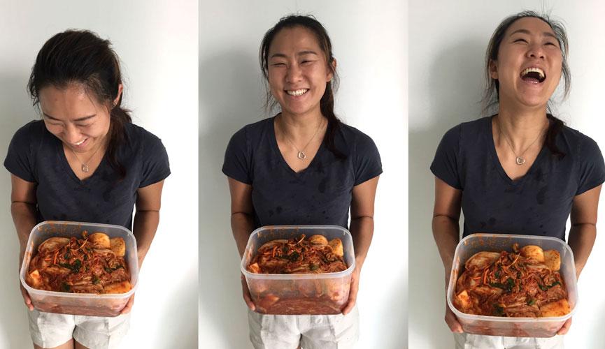 Kimchi making