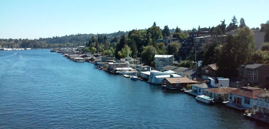 A gorgeous day to own a houseboat..