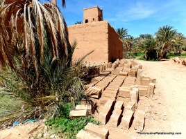 mud bricks for rebuilding ater the heavy rains
