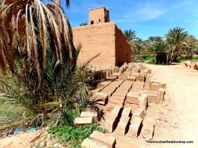 mud bricks for rebuilding ater the heavy rains