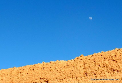 Moon overhead