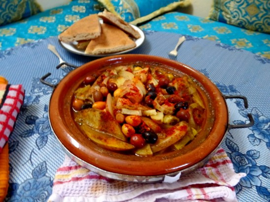 My first tagine, which I made to mark the start of Ramadan. It had potatoes, zucchini, onions, tomatoes and olives.