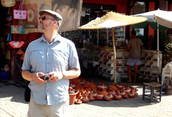 Thomas digging the vibe in Marrakech