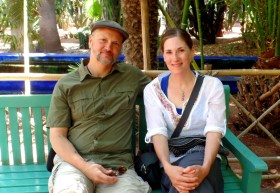 On our visit to Le Jardin Majorelle in Marrakech