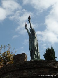 For some reason, there is a likeness of Lady Liberty.