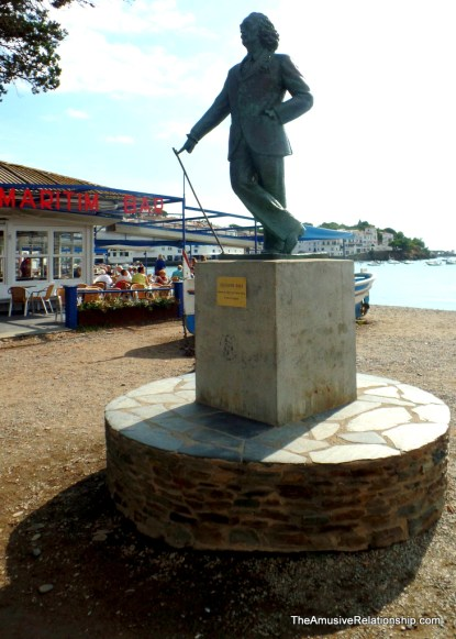 A statue of Salvador Dali in the bay