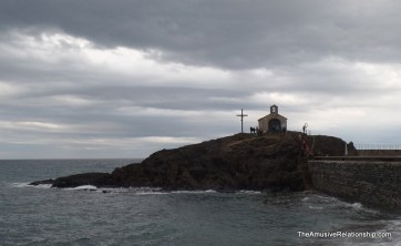 A small chapel on the shore