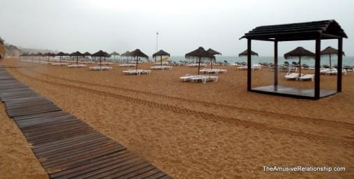 The beach on an overcast day