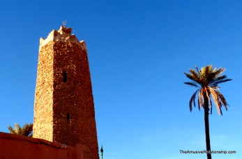 An octagonal minaret dating from the 14th century