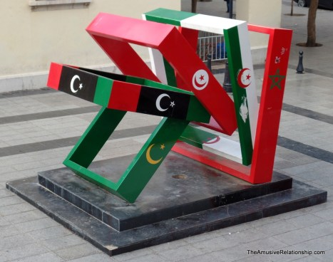 A monument celebrating the African Maghreb nations.